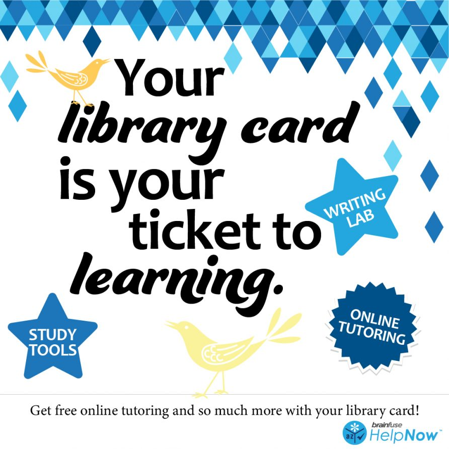 Your library card is your ticket to learning with Brainfuse!